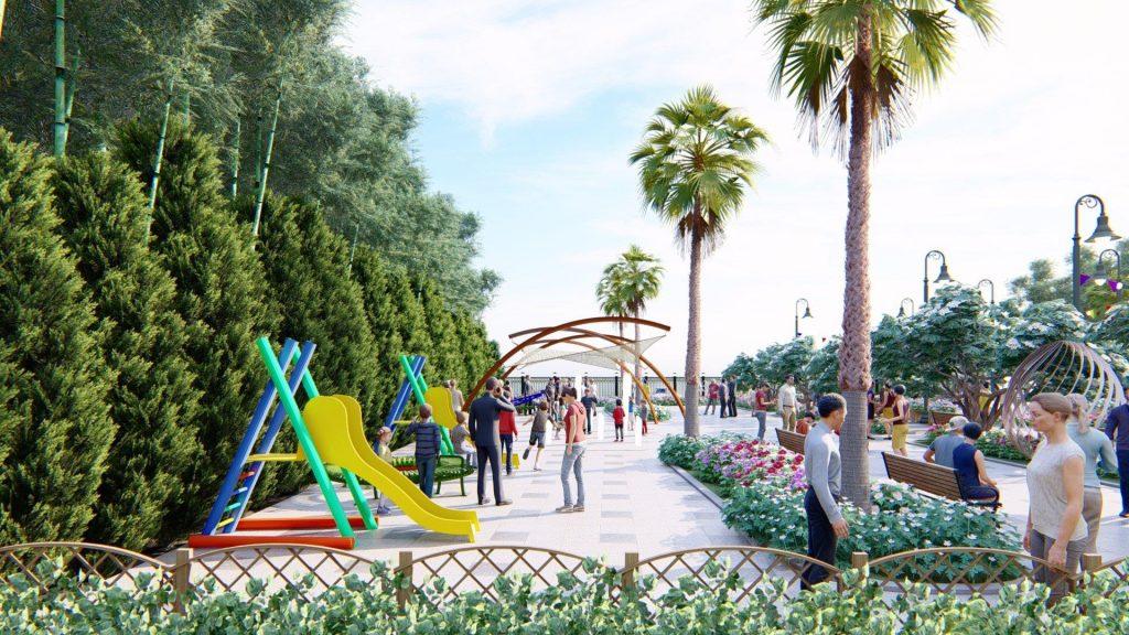 Khu công viên tại dự án TPS 52 Nguyễn Xiển TP Thủ Đức