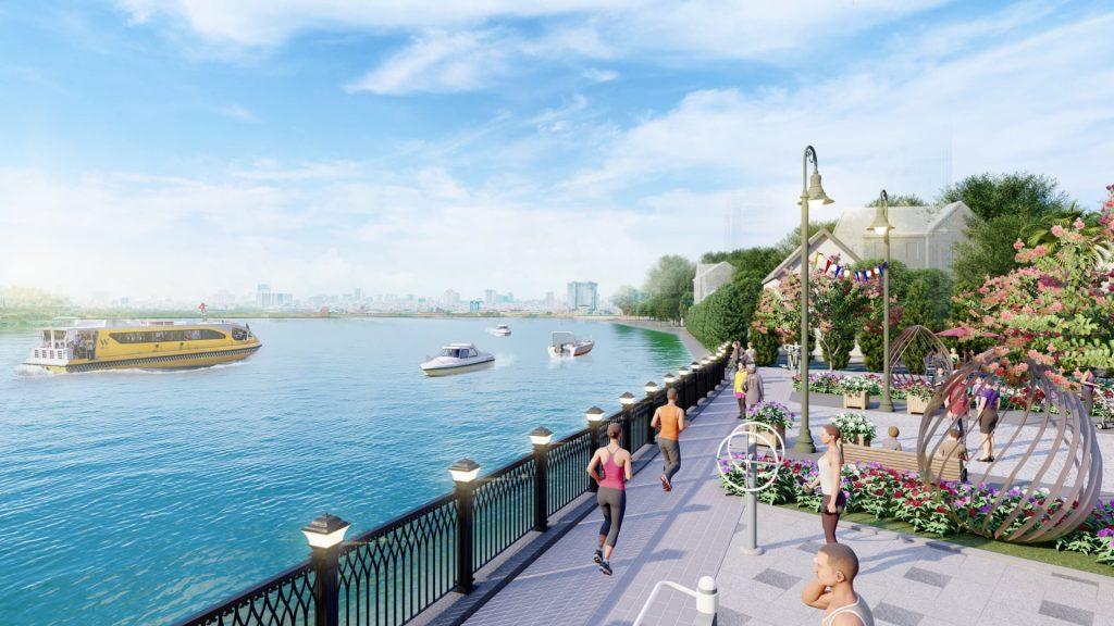 Vỉa hè ven sông Tắc cũng sẽ được CĐT làm lại toàn bộ phục vụ cư dân