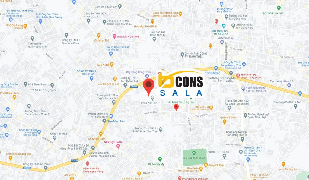 Vị trí Bcons Sala trên Maps