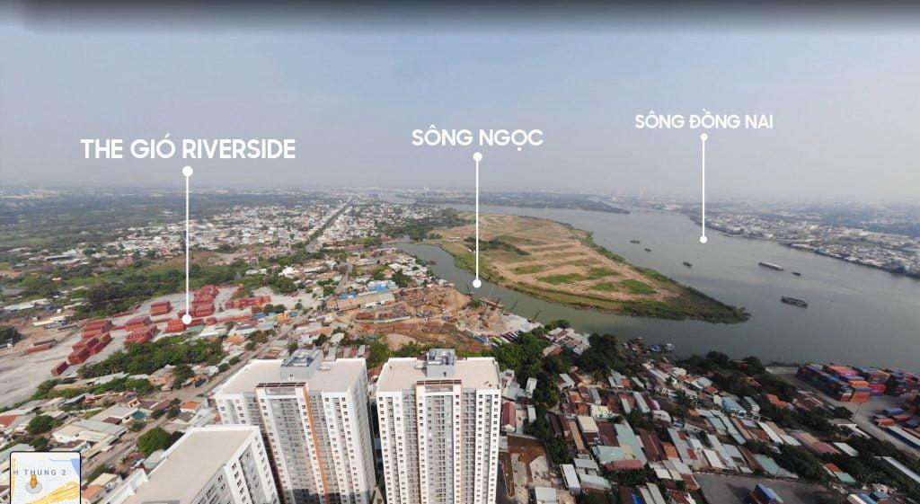 Vị trí thực tế dự án The Gió Riverside