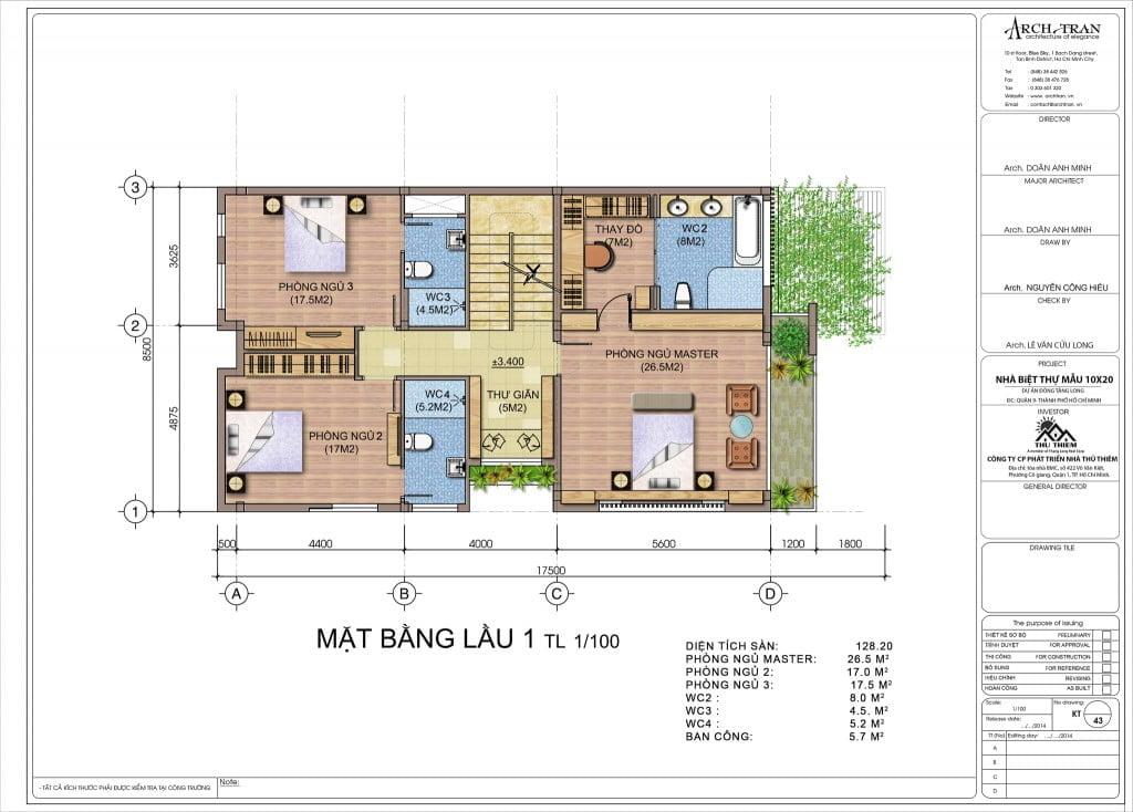 Thiết kế mẫu căn 10x20 tại Đông Tăng Long