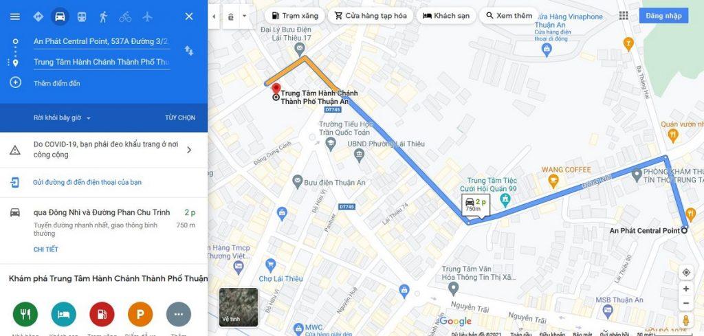 Nhà phố An Phát Lái Thiêu cách Trung tâm hành chính TP Thuận An khoảng 750 m