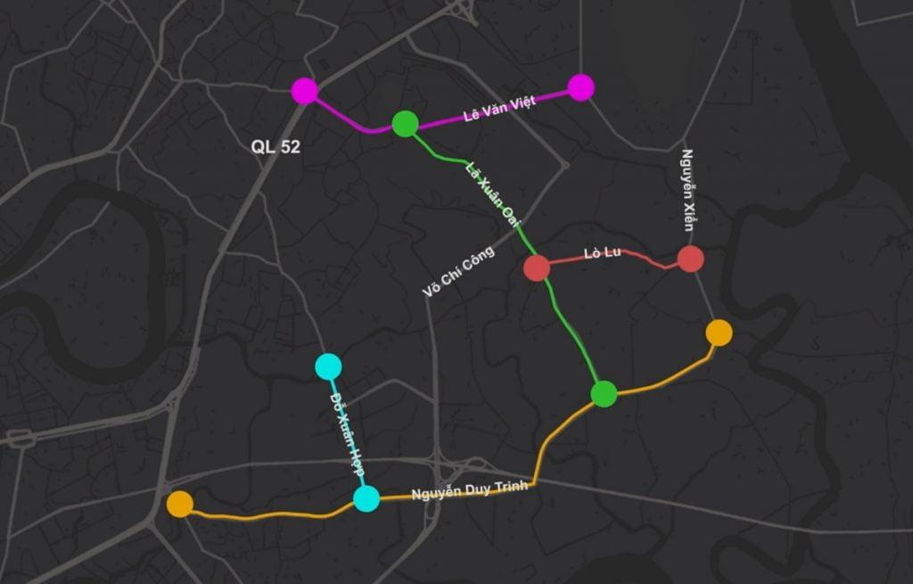 5 tuyến đường được quận 9 mở rộng trong giai đoạn 2021-2025