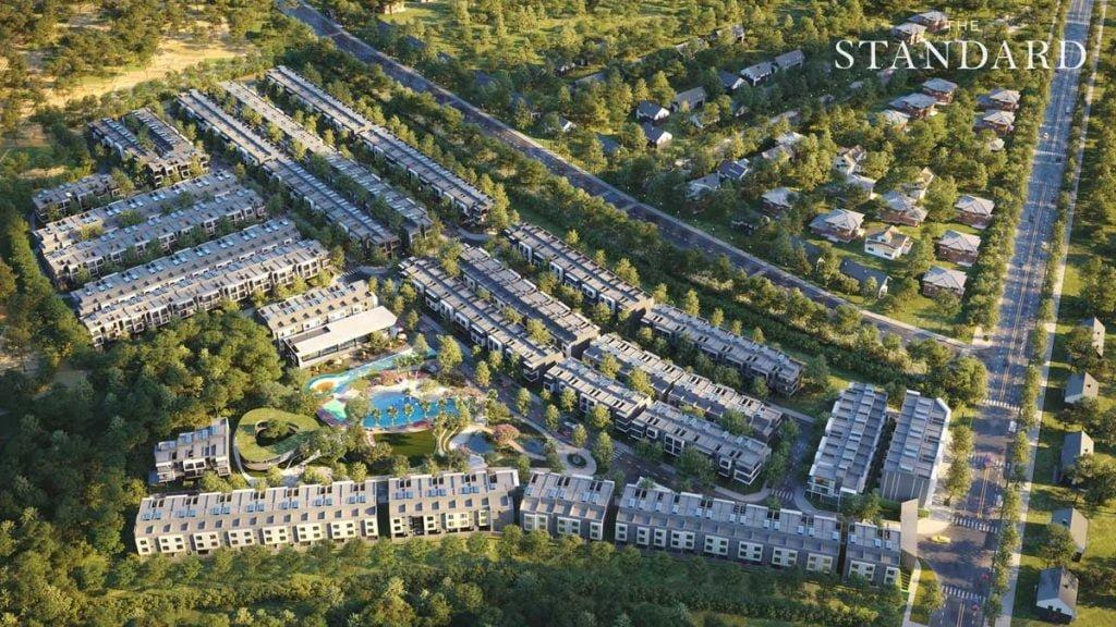 Phối cảnh tổng thể toàn khu dự án nhà phố The Standard Bình Dương