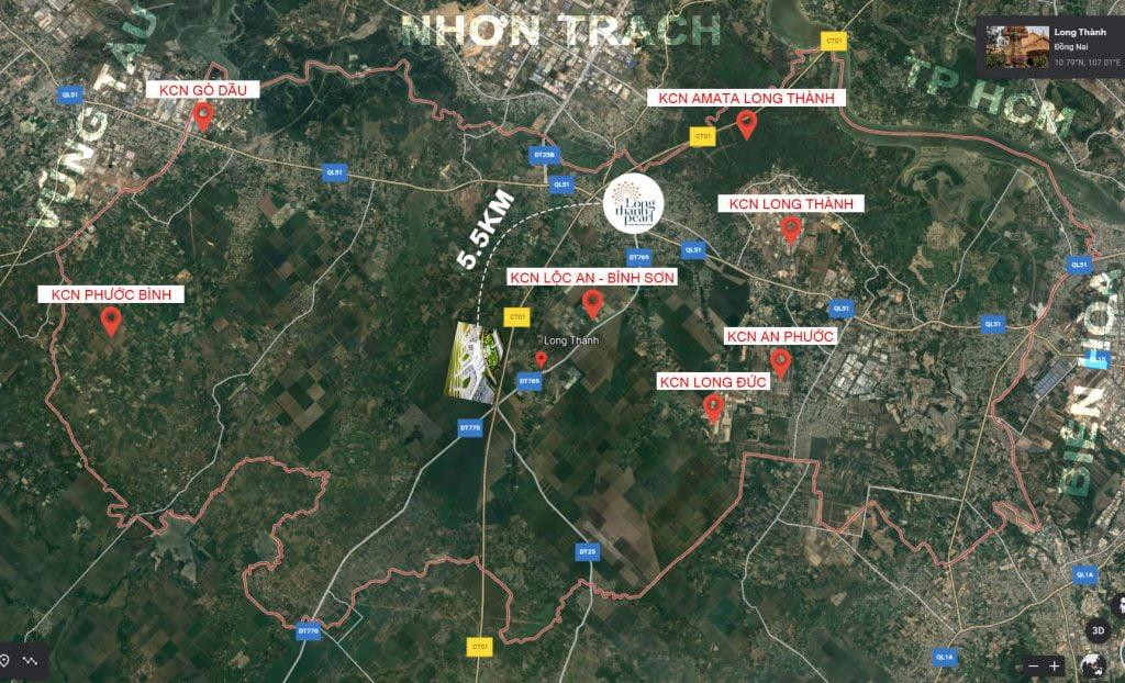 Các KCN tại huyện Long Thành