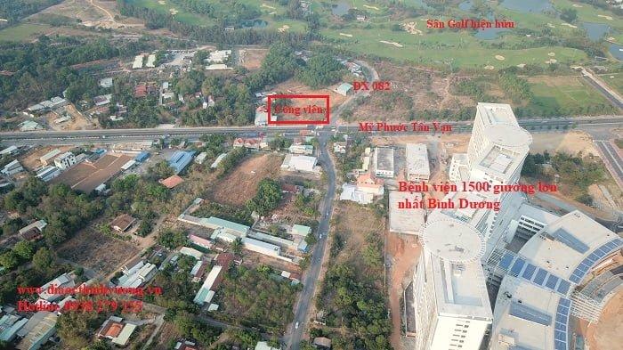 Bệnh viện 1500 giường và các khu vực tiện ích xung quanh