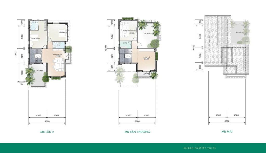 Thiết kế biệt thự BT-M01 Saigon Mystery Villas