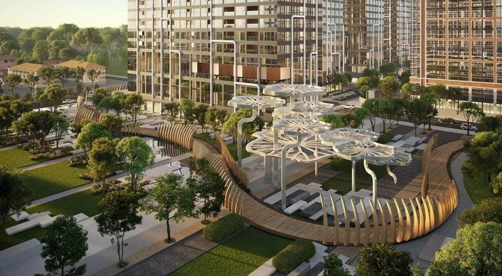 Công viên và cầu đi bộ Grand Marina