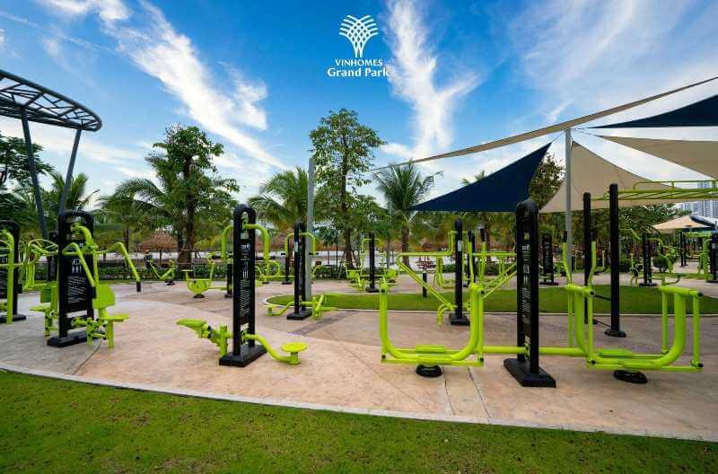 Công viên GYM phục vụ cho cư dân và khách thuê Vinhomes Quận 9