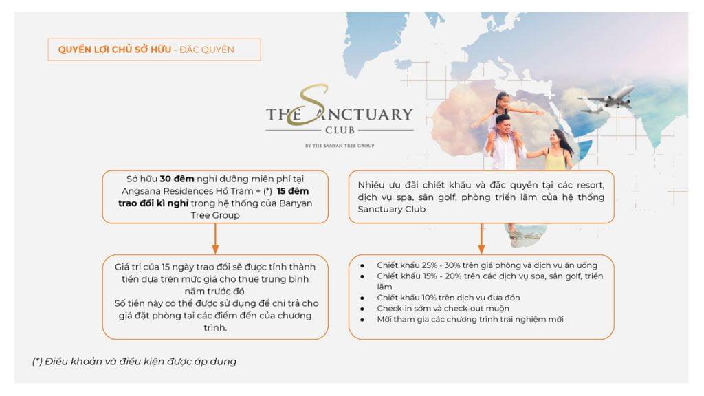 Đặc quyền khi gia nhập The Sanctuary Club