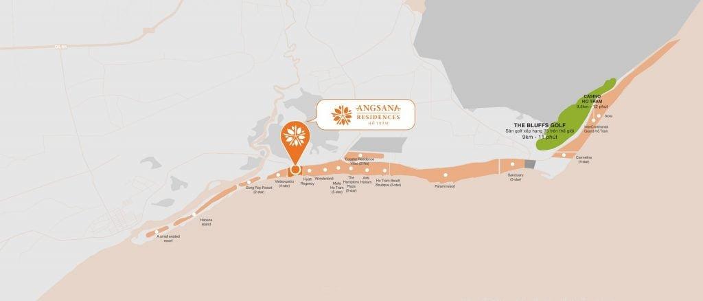 Các dự án nghỉ dưỡng lân cận Angsana Residences Hồ Tràm