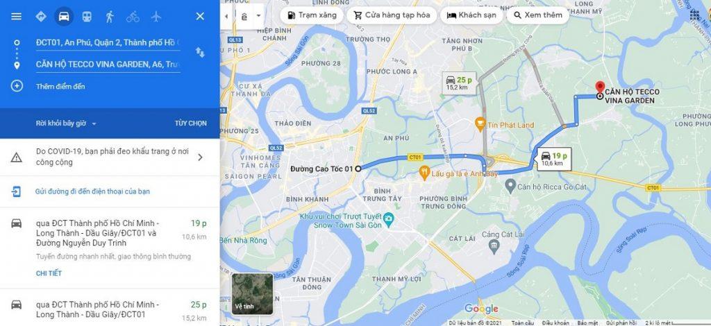 Hiện nay từ căn hộ Fresia Garden đến nút giao thông An Phú - Quận 2 khoảng 20 phút.