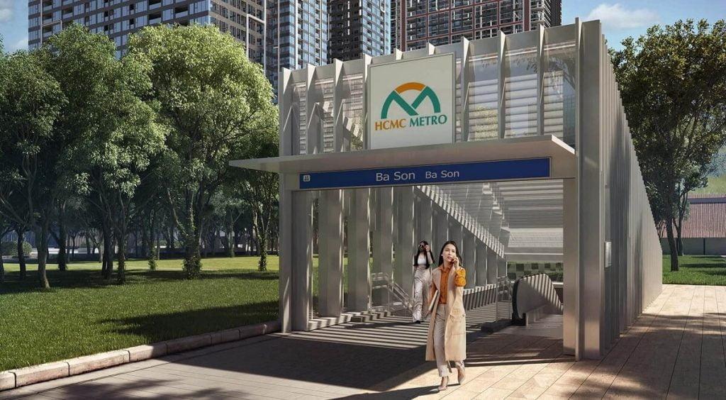 Ga tàu điện Metro gần Grand Marina