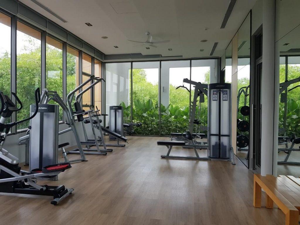 Phòng Gym thực tế bàn giao trong nhà phố The Standard An Gia