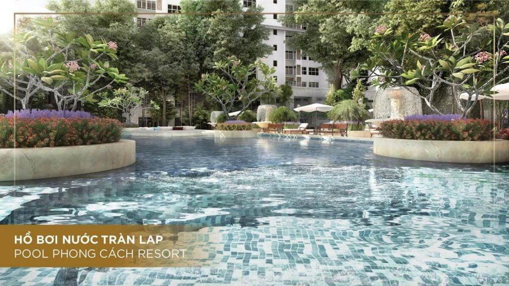 Hồ bơi nước tràn The Palace Residence