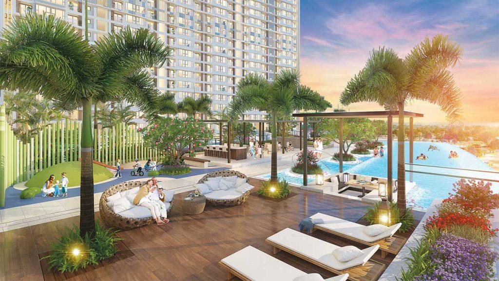 Hồ bơi Quảng trường trung tâm Nội khu Parkview Apartment