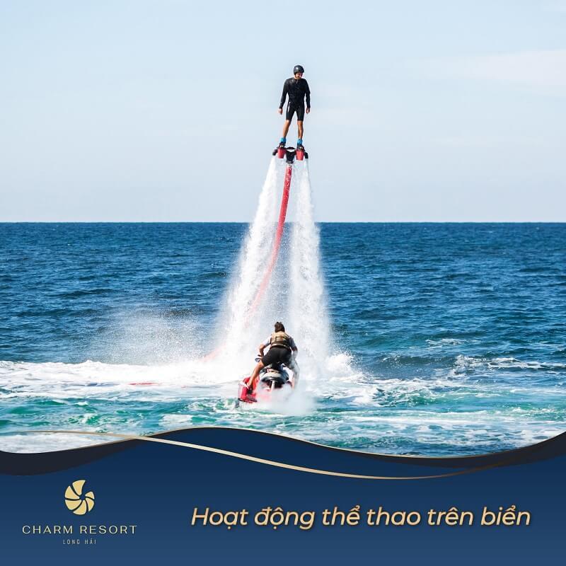 Hoạt động thể thao trên biển Charm Long Hải Resort