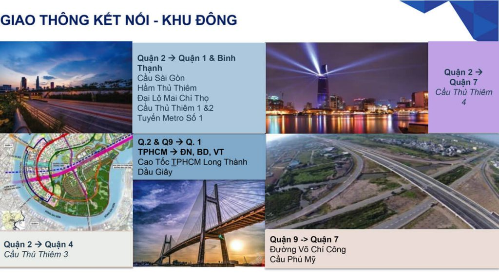 Giao thông kết nối tại khu đông Sài Gòn