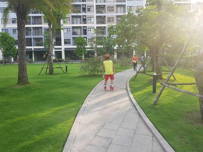 Công viên trong lành và xanh mát của Vinhomes Grand Park