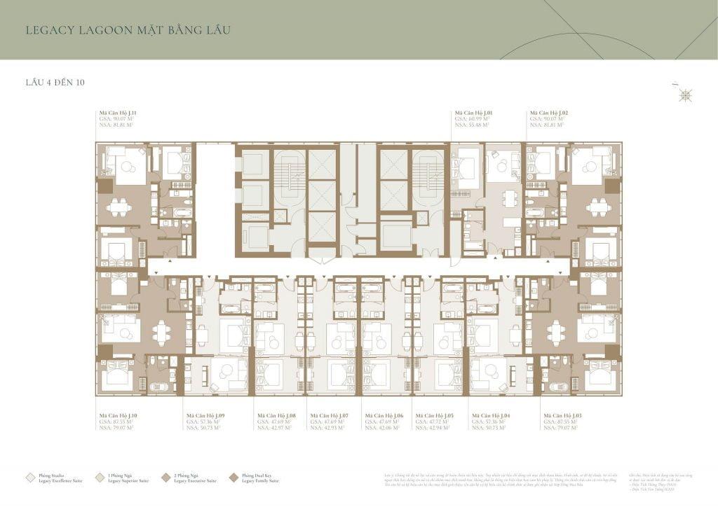Mặt bằng tầng 4-10 | Legacy Lagoon