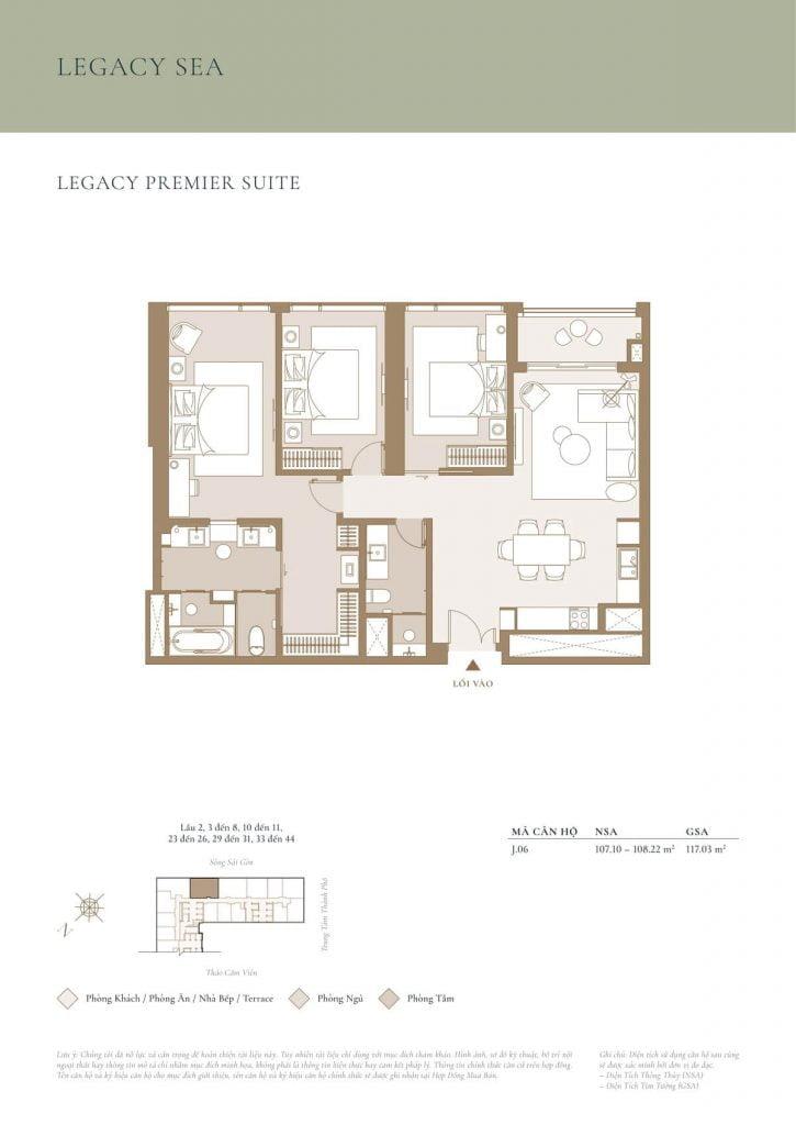 Legacy Premier Suite Sea
