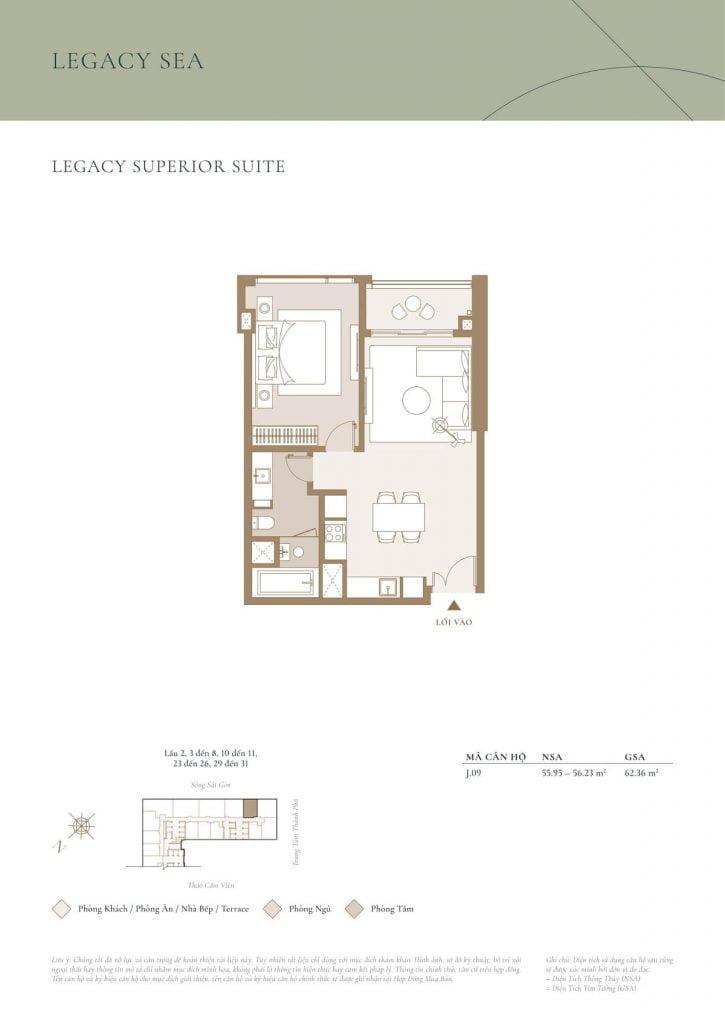 Legacy Superior Suite Sea