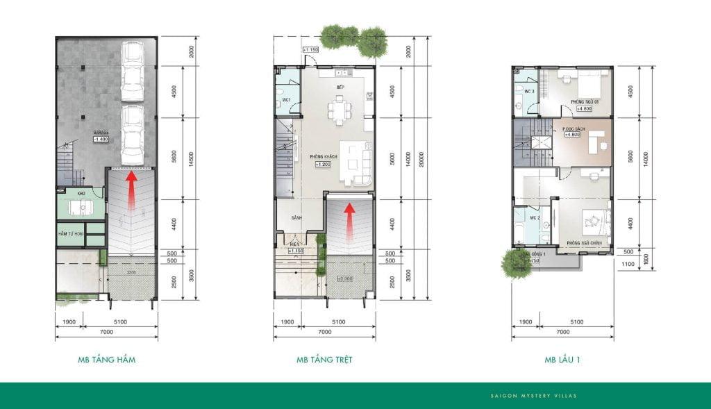 Thiết kế liên kế LK-M01' Saigon Mystery Villas