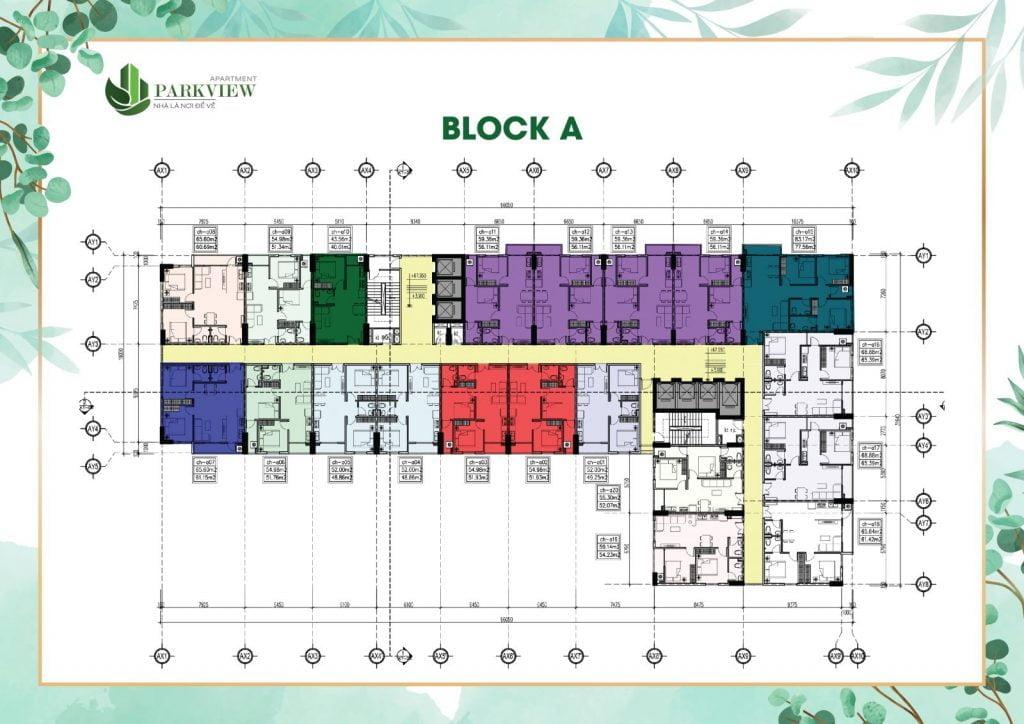 Mặt bằng block A Parkview Thuận An