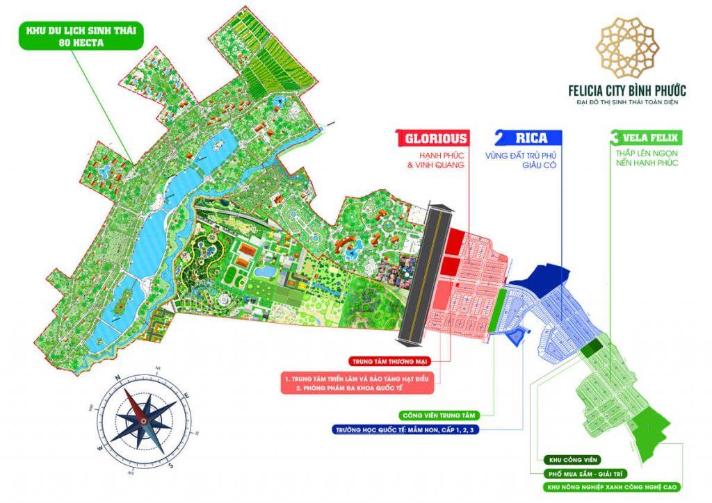 Mặt bằng tổng quan khu đô thị thương mại, dịch vụ và du lịch sinh thái Mỹ Lệ