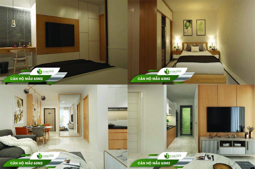 Căn hộ mẫu 63m2 Parkview Apartment