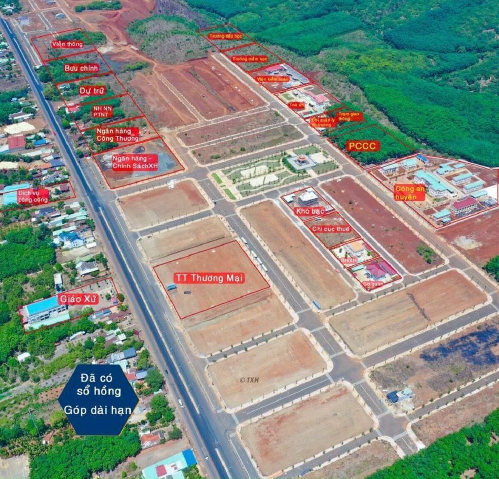 Vị trí các cơ quan hành chính trong khu quy hoạch 168 ha