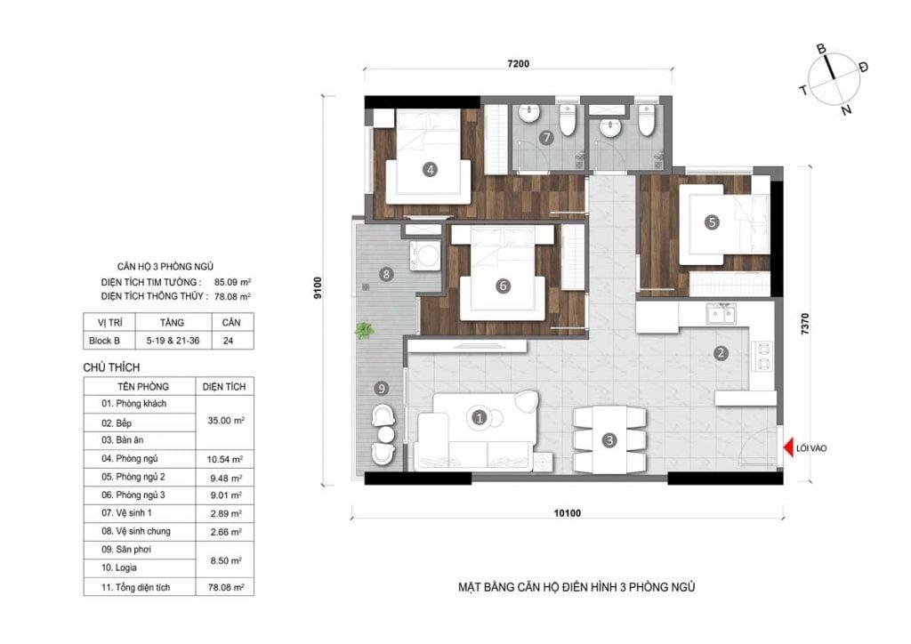 Thiết kế căn hộ Opal Thủ Dầu Một (chưa chính thức)