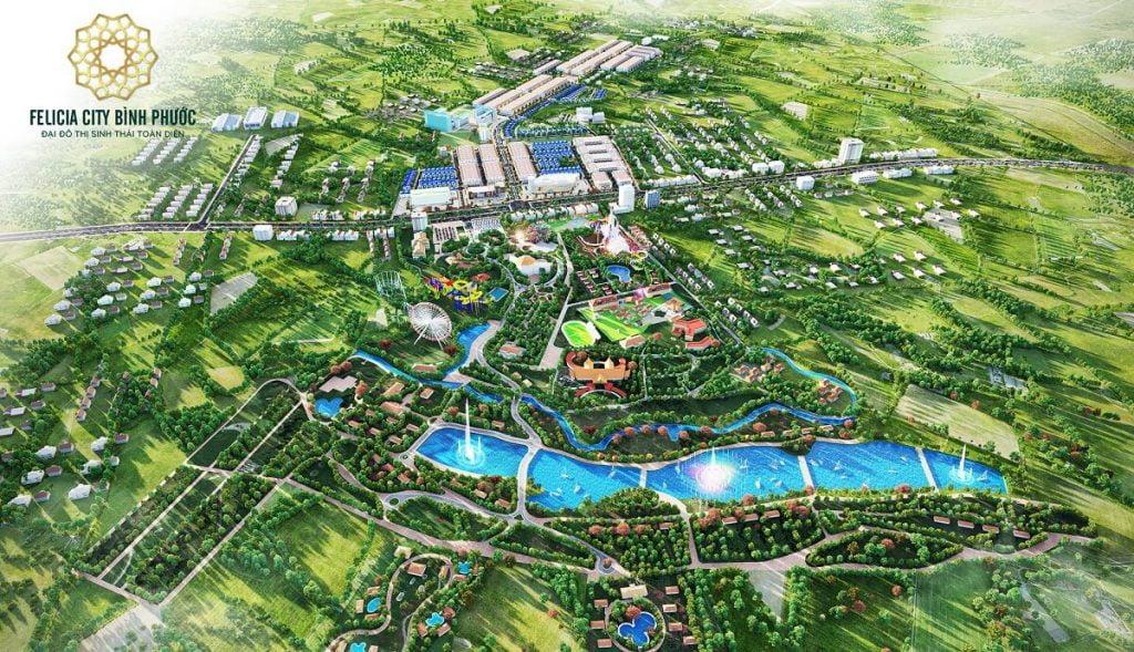 Phối cảnh khu đô thị Felicia City Bình Phước