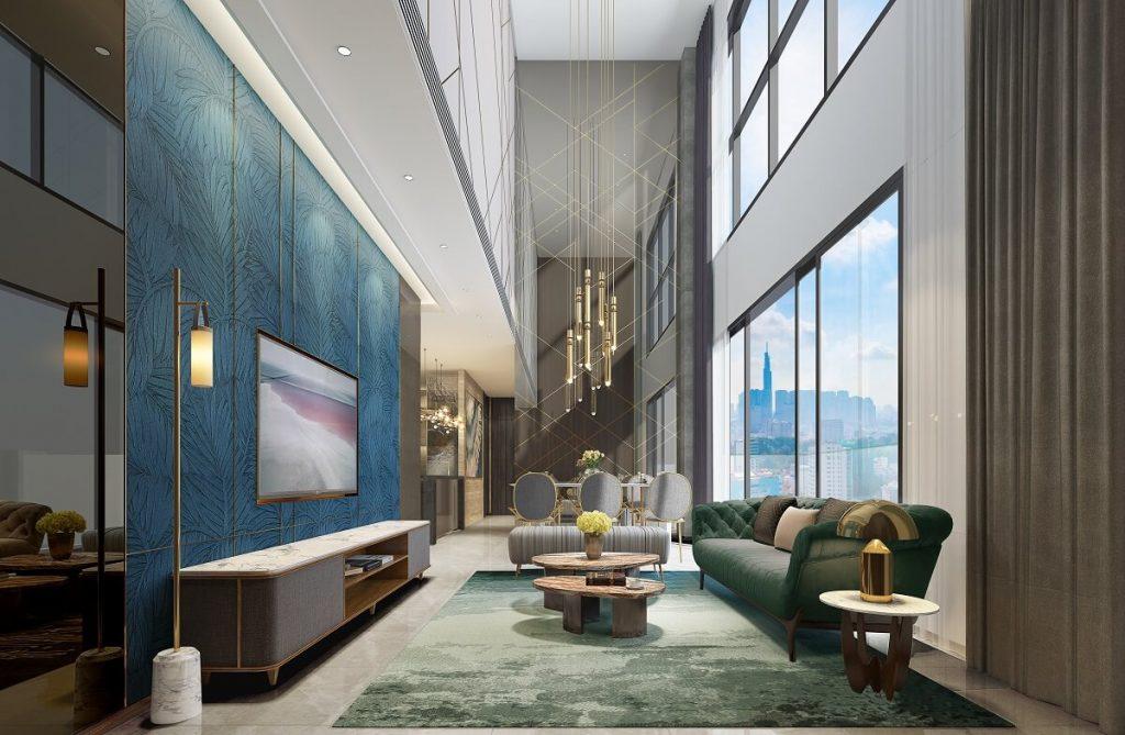 Phòng khách căn hộ 4PN