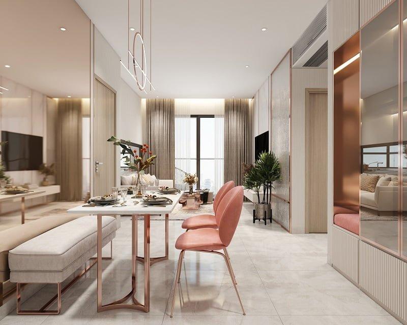 Phòng khách căn hộ D-Aqua