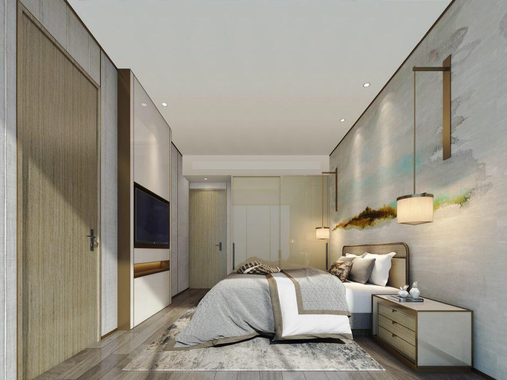 Phòng ngủ master căn hộ 2PN