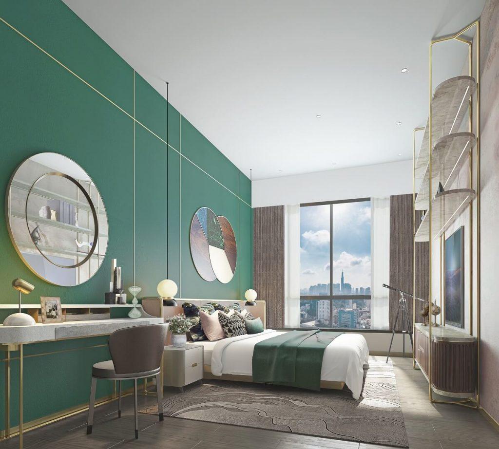 Phòng ngủ master căn hộ 4PN