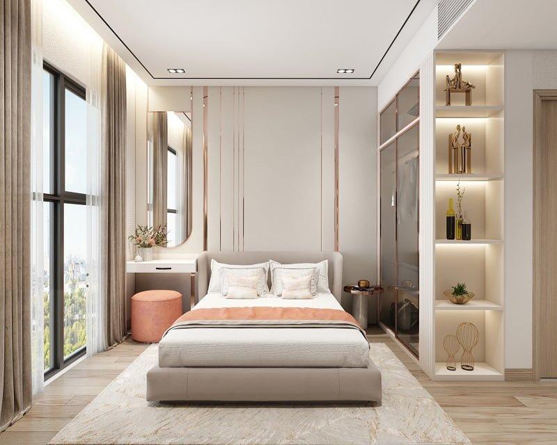 Phòng ngủ master căn hộ D-Aqua
