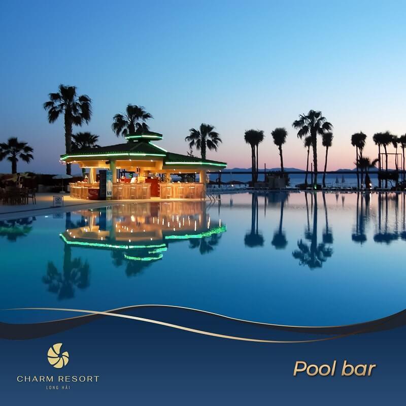 Pool bar Charm Long Hải Resort