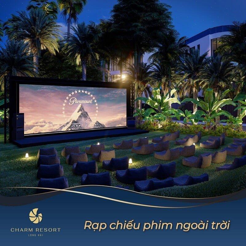 Rạp chiếu phim ngoài trời Charm Long Hải Resort