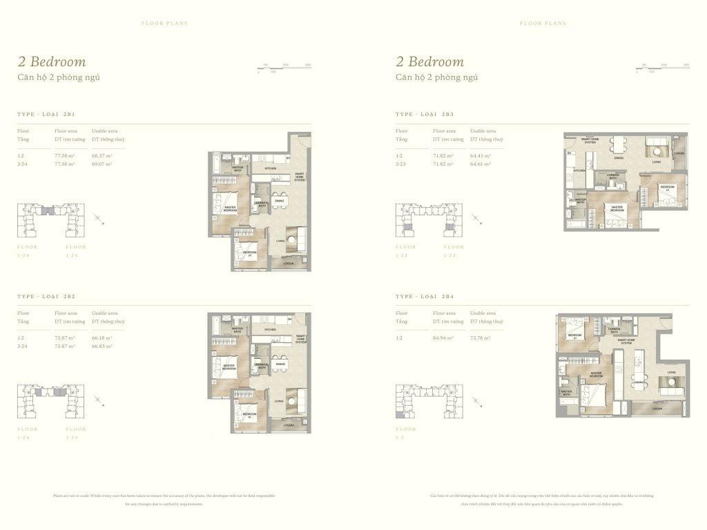 Thiết kế căn hộ 2PN