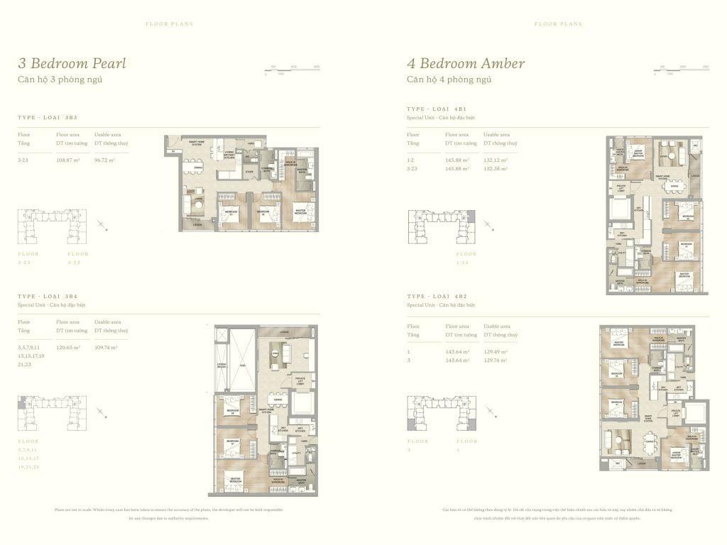 Thiết kế căn hộ 3PN & 4PN