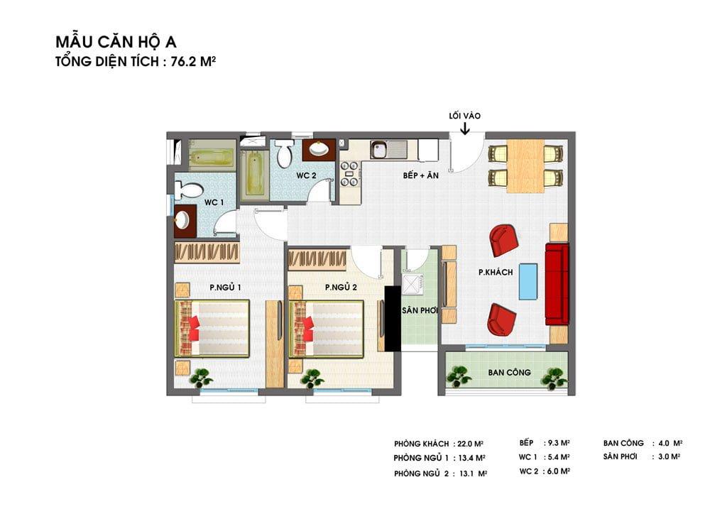 Thiết kế căn hộ A Golden Grand