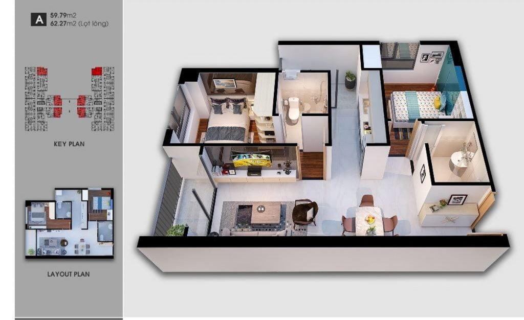 Thiết kế căn hộ loại A Saigon Avenue