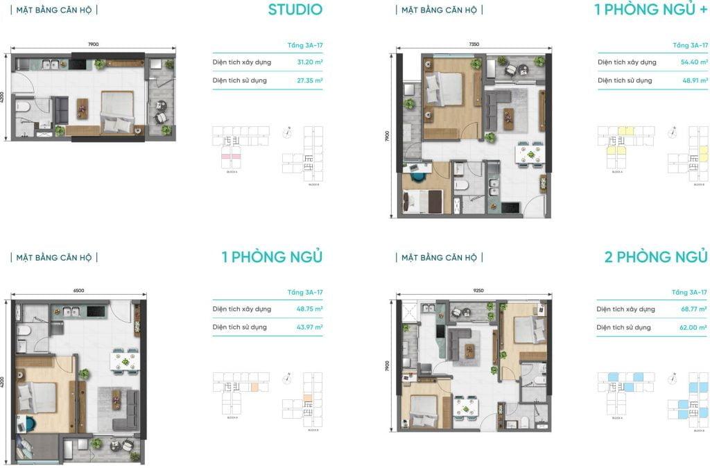 Thiết kế căn hộ D-Aqua Quận 8