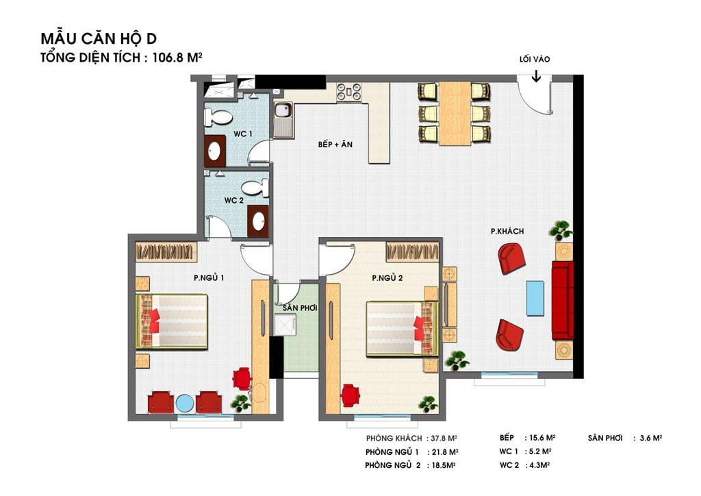 Thiết kế căn hộ D Golden Grand