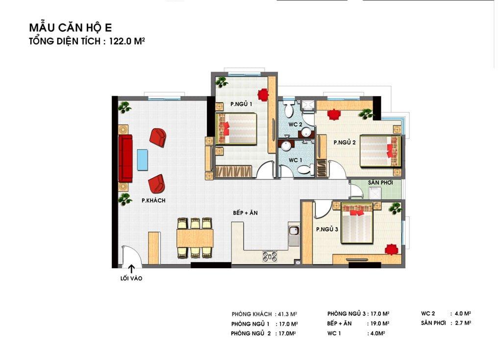 Thiết kế căn hộ E Golden Grand