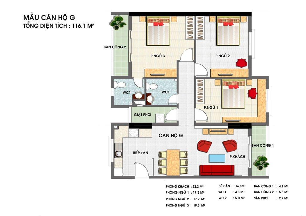 Thiết kế căn hộ G Golden Grand
