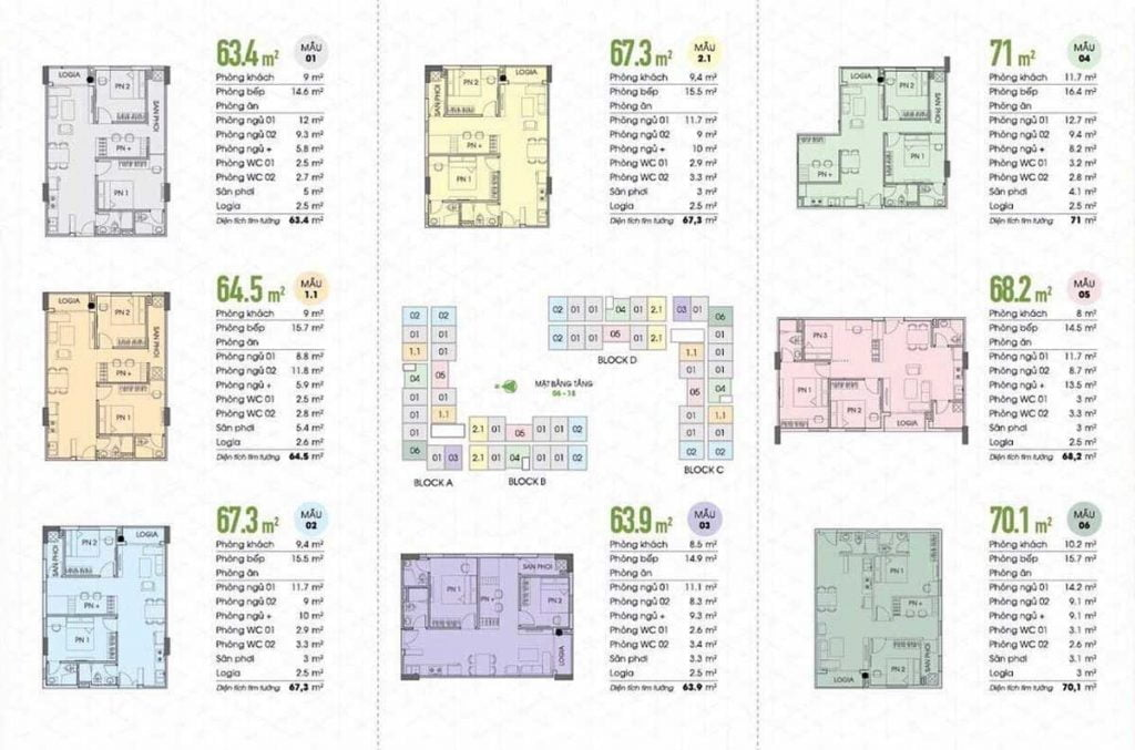 Một số mẫu thiết kế căn hộ Fresia Garden
