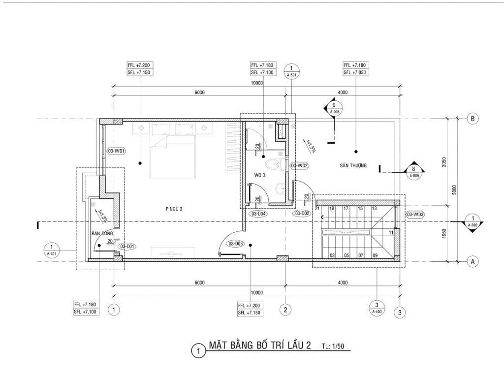 Thiết kế nhà phố Lavela Garden chi tiết căn 1 trệt 2 lầu phân khu B